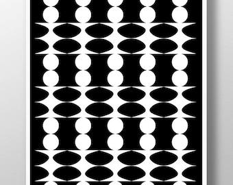 Black White Wall Art,Black Abstract Art,Black and White Prints,Geometric Print,Modern Black and White,Black Minimalist Art,Tribal Art Prints