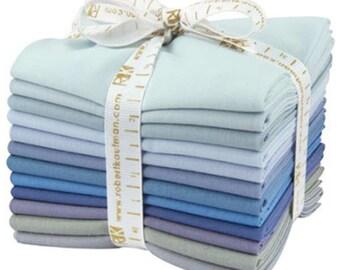 SALE Kaufman Kona Cotton Solids Fat Quarter Bundle Fabric Fat Quarter Overcast Palette FQ-906-12