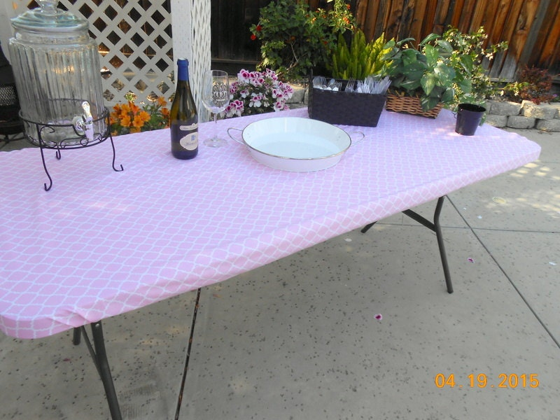 Custom Fitted Stay Put Tablecloth for 5 or 6 by ...