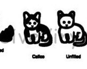 Stick Family You Pick a Custom Cat Black or White Vinyl Decal Calico for Car Truck Van Window Laptop Mailbox