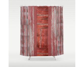 Rustic Shower Curtain, Barn Shower Curtain, OOAK, Outdoorsy Country Living Shower  Curtain,