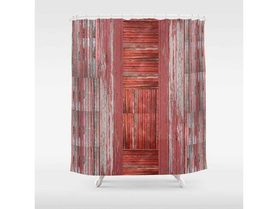 Rustic Shower Curtain Barn Shower Curtain Ooak By