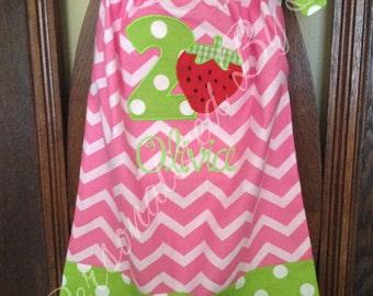 Applique Strawberry Birthday Dress