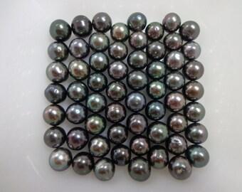 11-12mm Dark Oval Loose Tahitian Pearls
