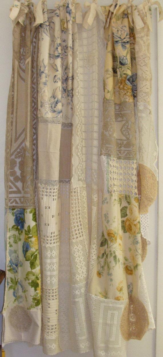 shabby chic boho boho gypsy shower curtain window curtain