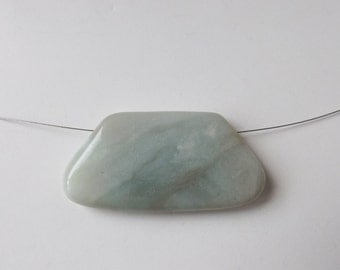 Natural Amazonite pendant bead ( #J1316)