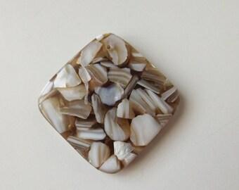 MOP Shell in Reisin pendant bead ( #J1322)