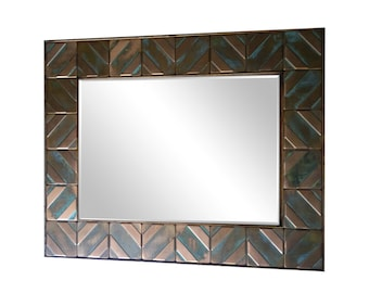Copper frame for mirros. UNIQUE mirror for your home. Metal accent frame.Size of frame 60cmx80cm