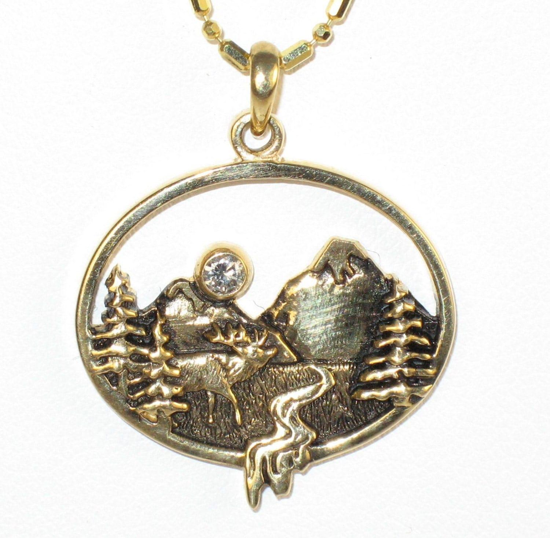 moose mountain pendant mountain jewelry mountain