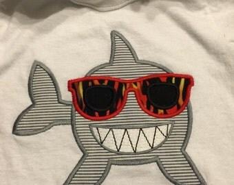 Shark Week Kids Tshirt/Applique/embroidery