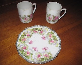 Vintage demitasse espresso cups and dessert plate Made in Germany china