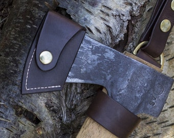 Gransfors Small Forest Axe Blade cover. Handmade from 3.5mm Leather