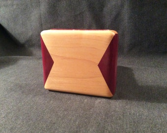 Art Deco Accessory Case or Maple Wooden Clutch