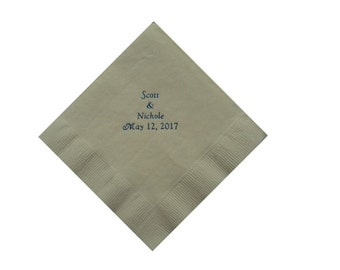 Personalized Wedding Beverage Napkins