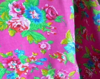 Vintage Bright Floral Fabric