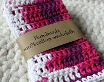 100% Cotton washcloths