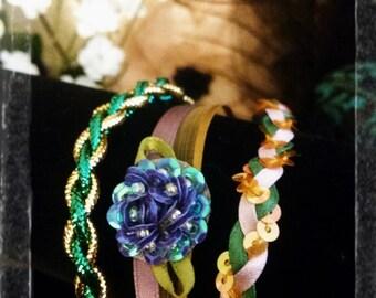 Multiple Strand Hydrangea Bracelet