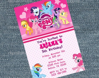 My Little Pony Invitations - Friendship is magic birthday party