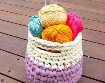 Yam Yam crochet basket