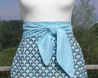 apron - apron skirt - apron - turquoise - flower