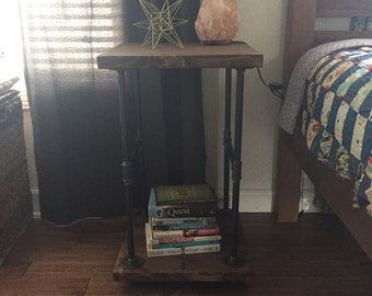 Industrial side table / nightstand / pipe furniture