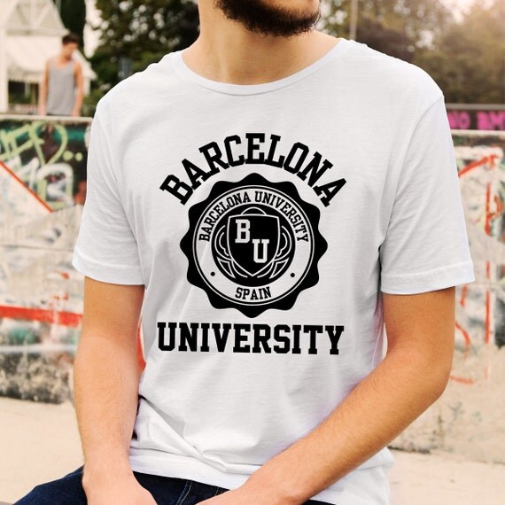 Barcelona University Logo T-Shirt All Colours And Sizes