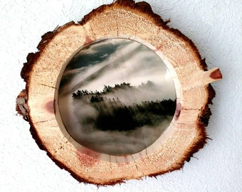 """Raw Wood Picture Frame, Redwood Picture Frame, Rustic Picture Frame, 12"""""""