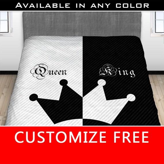 seine ihr k nig k nigin bettlaken seine seite ihrer seite. Black Bedroom Furniture Sets. Home Design Ideas