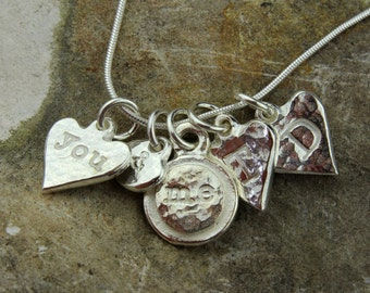 Personalised Solid Silver 'You & Me' Charm Necklace