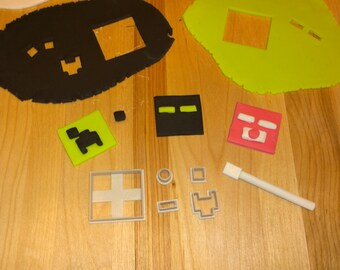 Minecraft Inspired Fondant Cutter Set - MC Face Kit