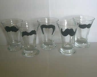 moustache shot glasses