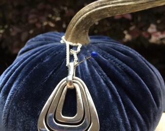 Pretty pendant in sterling silver