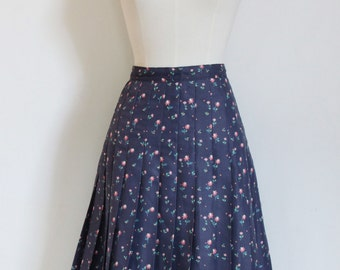 70s Floral pleated skirt