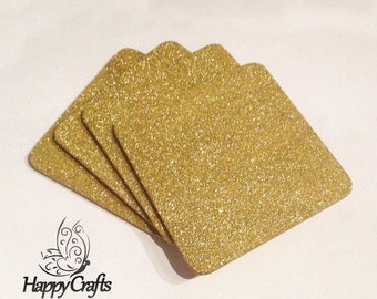Glitter Drinks Coasters Set of 4