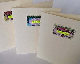 Pack of 3 Thank You greeting cards