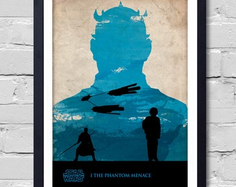 Vintage Star Wars Poster. The Phantom Menace
