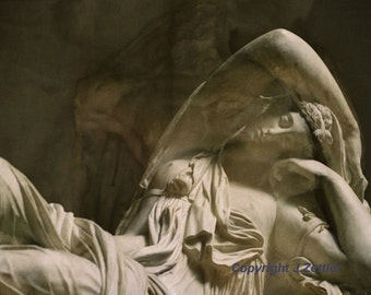 Sleeping Ariadne - Fine Art Photography, Print, Double Exposure, Classical Sculpture