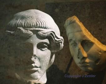 Portrait Photo, Greek Sculpture, A Second Face, Fine Art Photography, Classical Statue, Double Exposure, Print