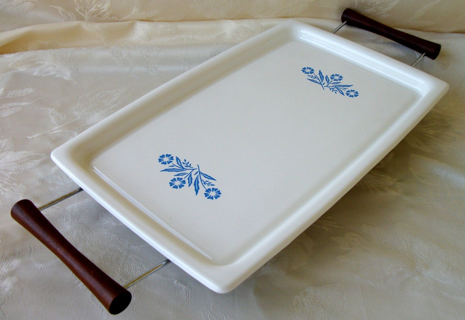 Corning Ware Broil Bake Tray With Cradle Blue Cornflower