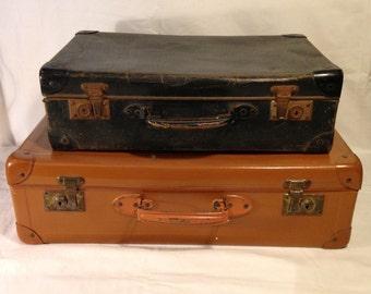 Cardboard suitcase vintage 60s