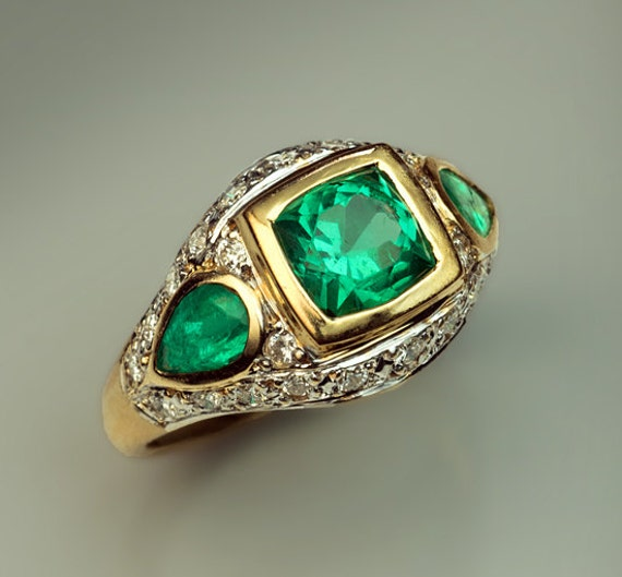 vintage emerald and ring