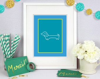 Wiener Dog Print, Dachshund Poster, Poster Print, Dog Poster Print, Dog Wall Art, Wall Decor, Dog Wall Decor, Dog Lover Art, Wall Poster Art