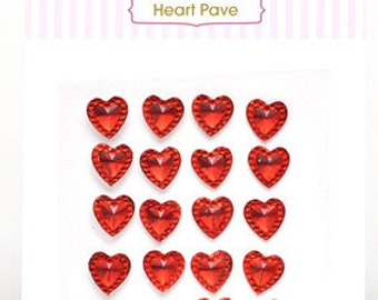 CLEARANCE! Heart Pave - Red Embellishments