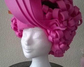 Pink Ladies Foam Wig/Cosplay/Halloween/Theme Party/Pink/Foam/Wig