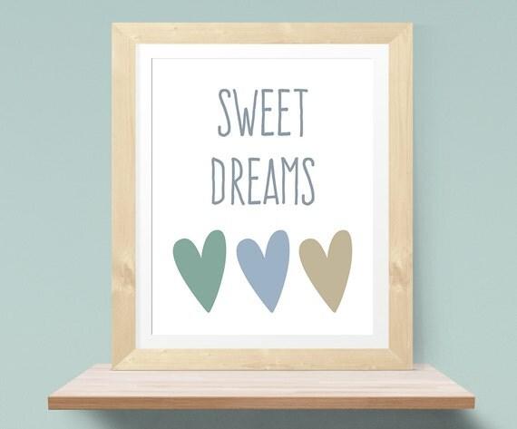 Affiche chambre bébé \'Sweet Dreams\' Affiche rêve