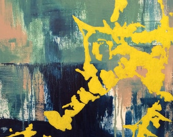 Abtract Seahorse - original painting on canvas