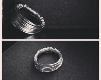 """The """"Gylise"""" silver wire wrapped ring"""