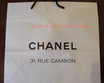 Chanel Shopping Bag Etsy