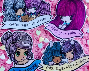 Feminist cuties Sticker pack