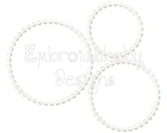 Pearl Border 4 5 and 6 Inch Dot Border Machine Applique Embroidery Design pes jef xxx vip vp3 pec dst exp